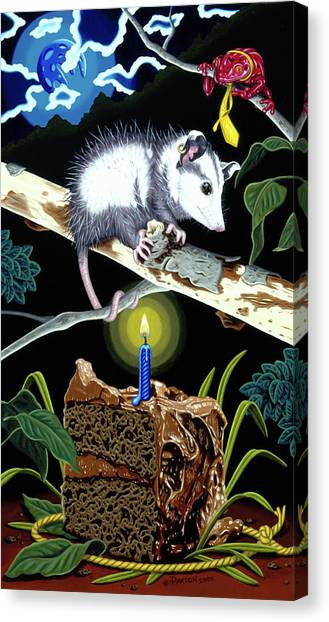 Canvas Print featuring the painting Birthday Surprise by Paxton Mobley