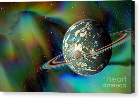 Birthing Planet Canvas Print