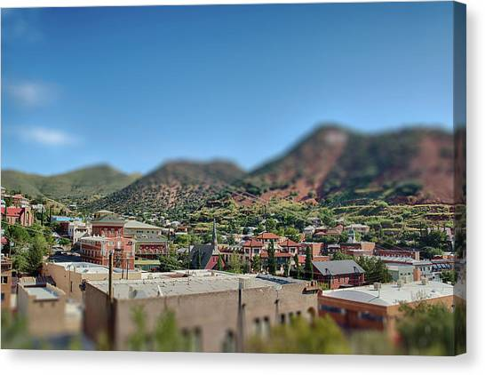 Canvas Print featuring the photograph Bisbee Arizona by Dan McManus