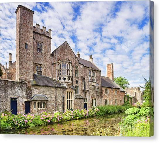 Bishops Canvas Print - Bishops Palace, Wells by Colin and Linda McKie