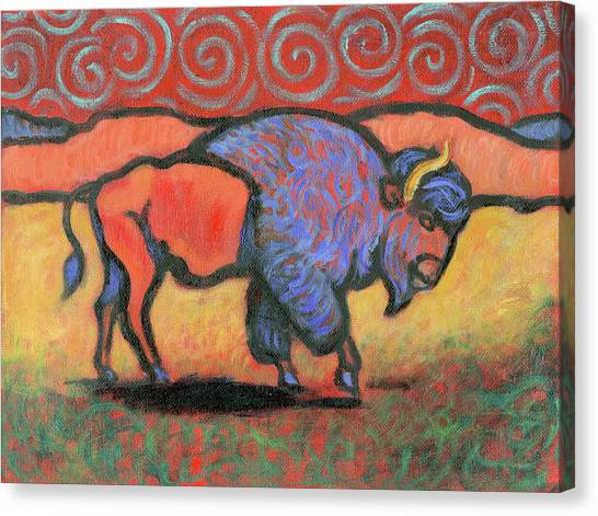 Bison Totem Canvas Print