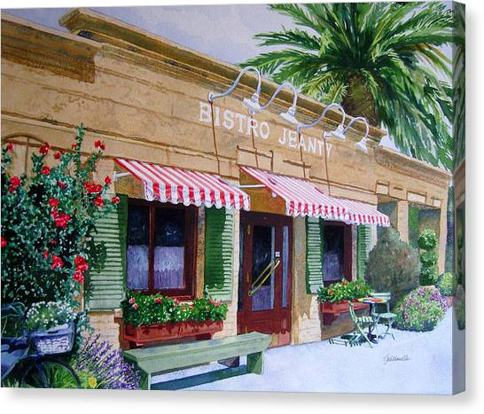 Bistro Jeanty Napa Valley  Canvas Print