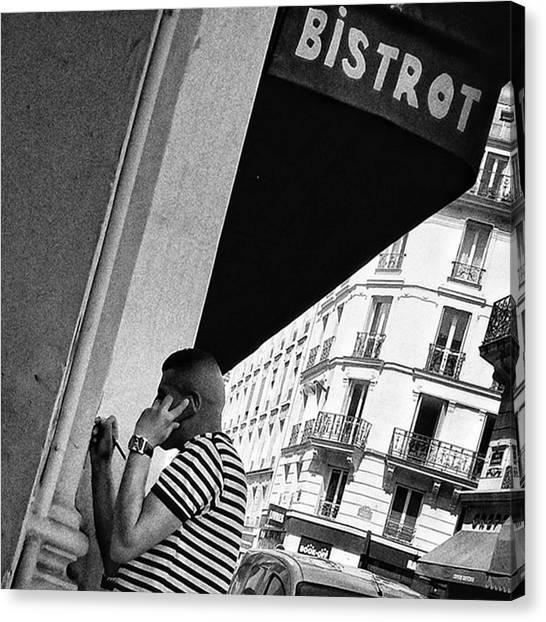 Bar Canvas Print - Bistrot Man  #man #bar #bistrot by Rafa Rivas