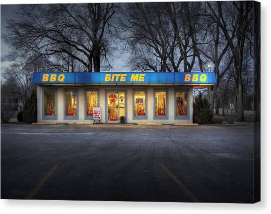 Bite Me Bbq Canvas Print