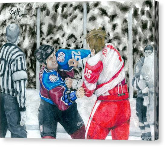 Western Conference Canvas Print - Bitter Brawl by Geoff Hinkley