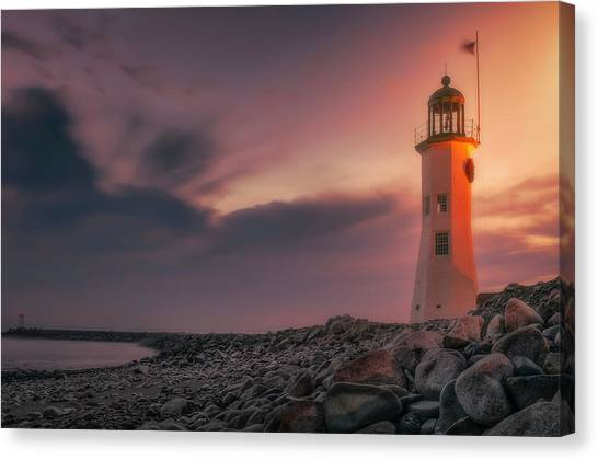Bittersweet Scituate Light Canvas Print