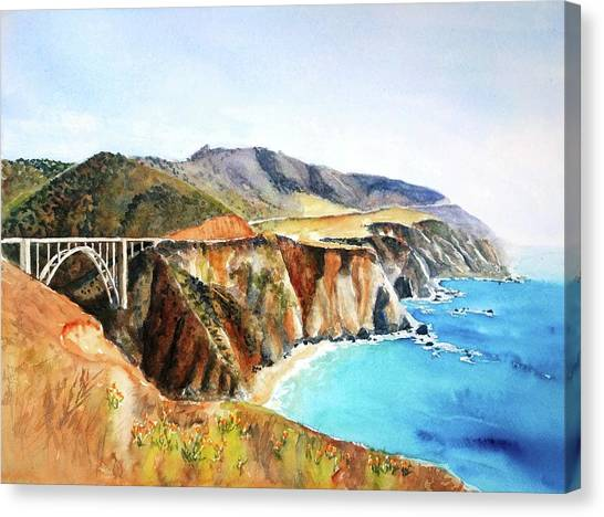 Bixby Bridge Big Sur Coast California Canvas Print