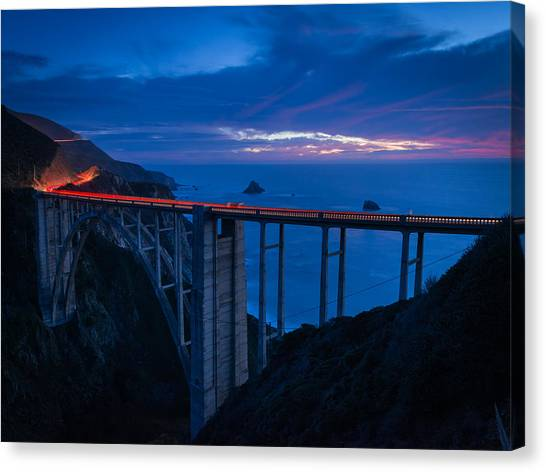 Bixby Canyon Bridge Sunset Canvas Print