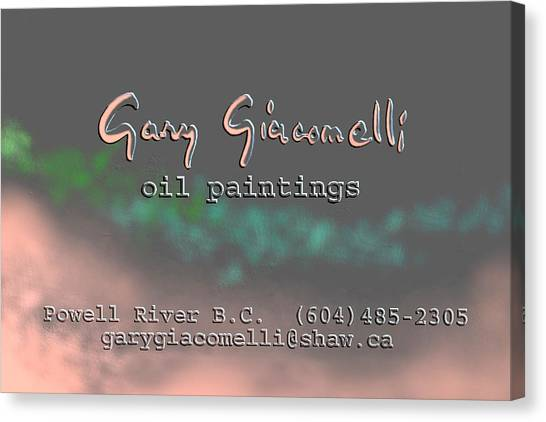 Biz Card Canvas Print
