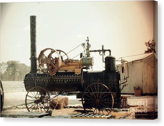 Black And Glorious Steam Machine Canvas Print