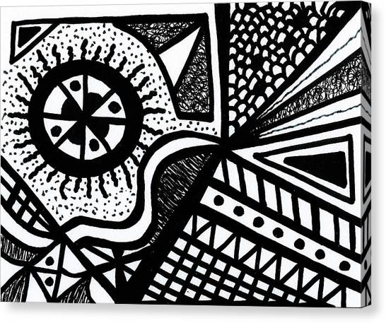 Black And White 14 Canvas Print