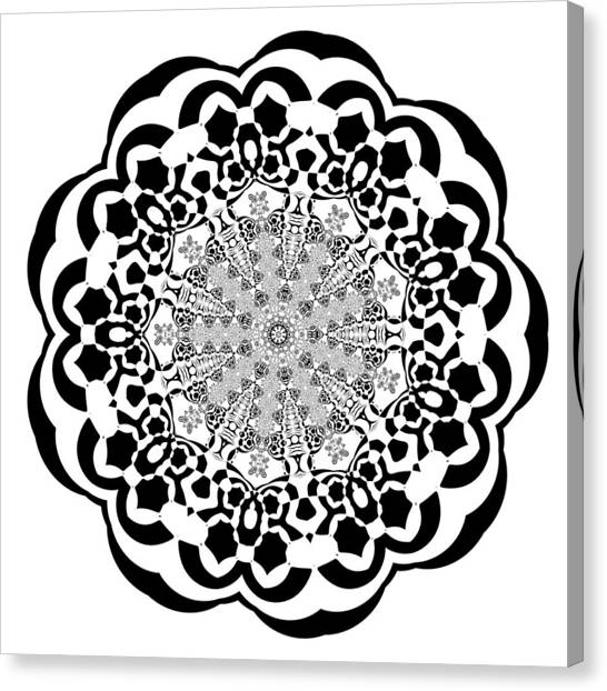 Canvas Print featuring the digital art Black And White 4 by Robert Thalmeier