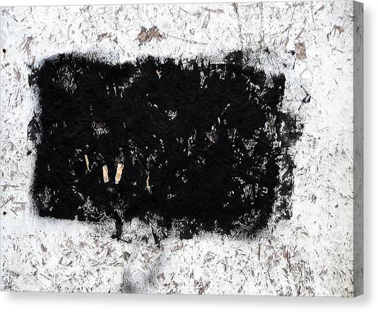 Black And White Abstraction Canvas Print by JoAnn Lense
