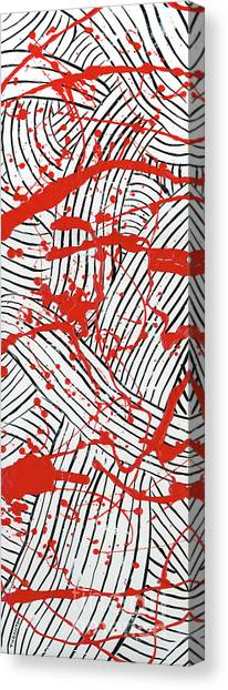Black And White And Red All Over 1 Canvas Print