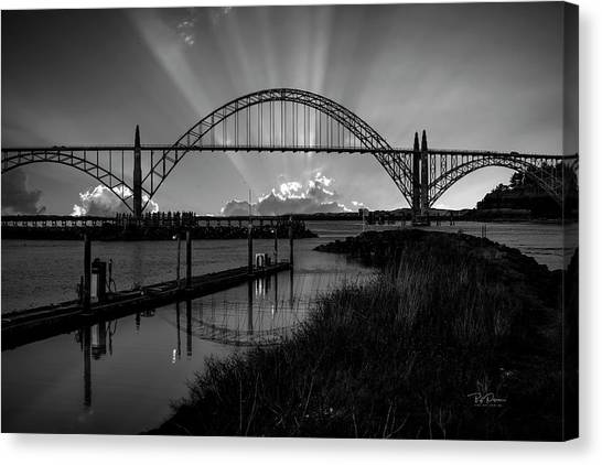 Black And White Bridge Canvas Print