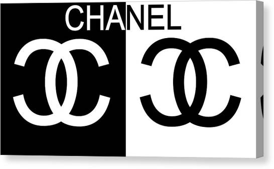 Black And White Chanel 2 Canvas Print