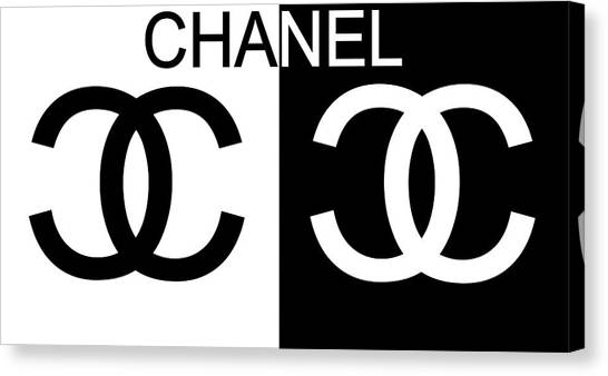 Black And White Chanel Canvas Print