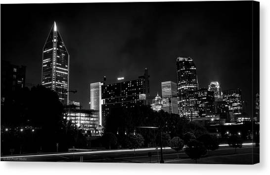 Black And White Downtown Canvas Print