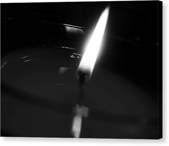 Black And White Flame Canvas Print