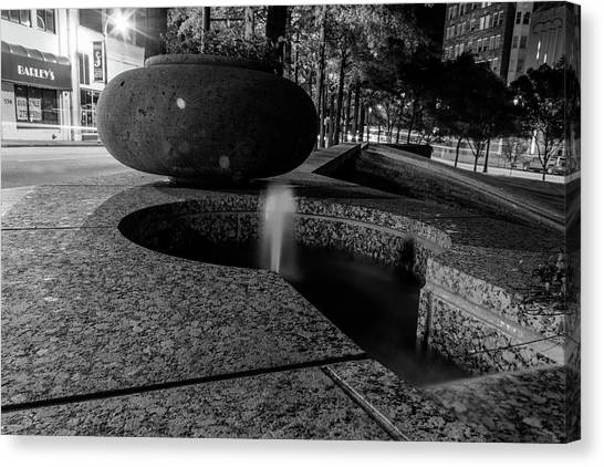 Black And White Fountain Canvas Print