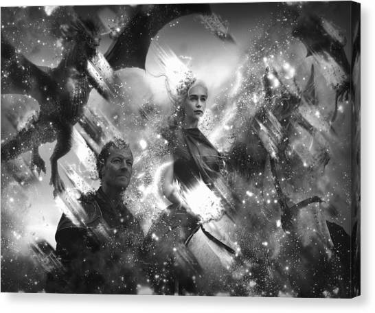 Black And White Games Of Thrones Another Story Canvas Print