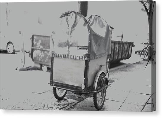 Black And White German Stroller Canvas Print