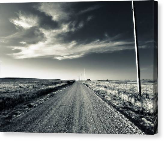 Black And White Gravel Canvas Print