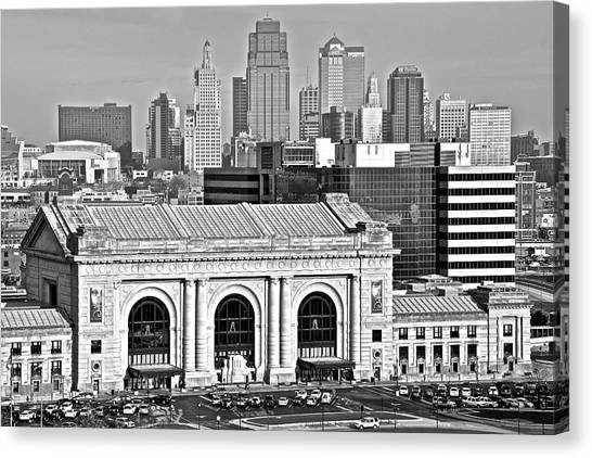 Kansas city royals canvas print black and white kansas city by frozen in time fine