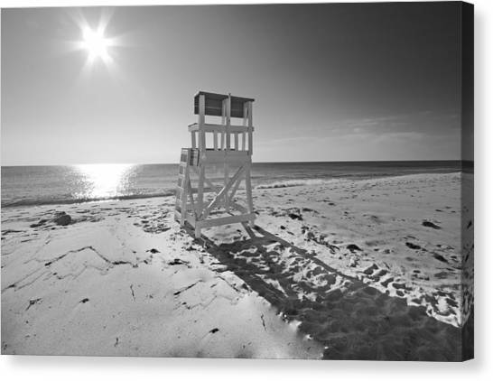 Black And White Photography The Beach Canvas Print by Dapixara Art