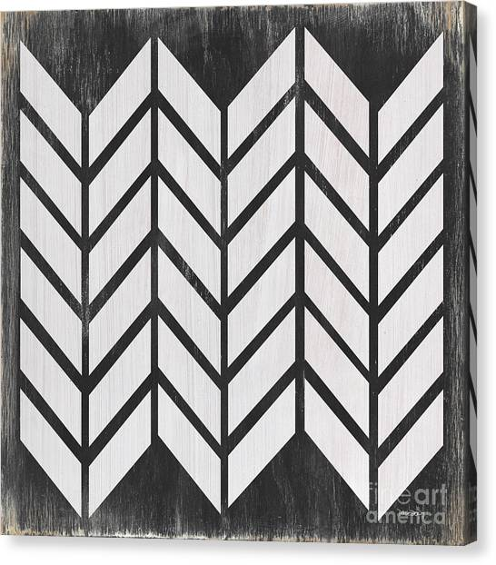 Plaid Canvas Print - Black And White Quilt by Debbie DeWitt