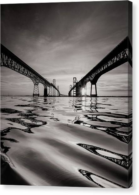 Black And White Reflections Canvas Print