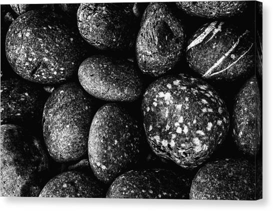 Black And White Stones One Canvas Print