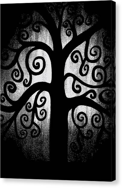 Black And White Tree Canvas Print