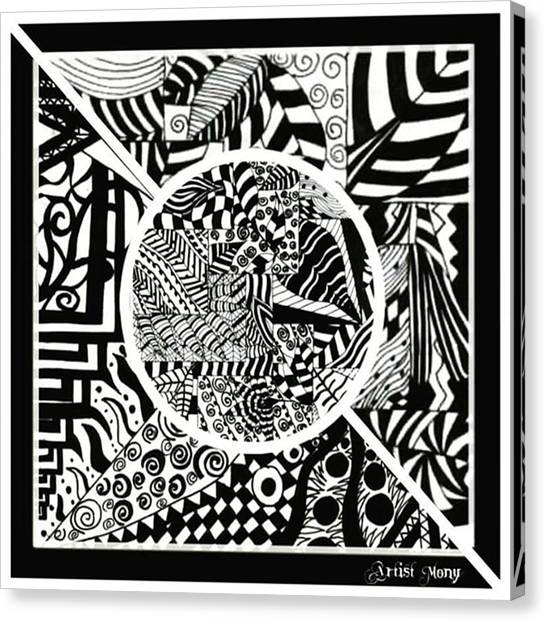 Ballerinas Canvas Print - Black And White  #art #painting by Eman Allam