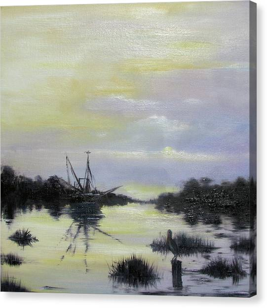 Black Bayou Canvas Print by Judy Merrell