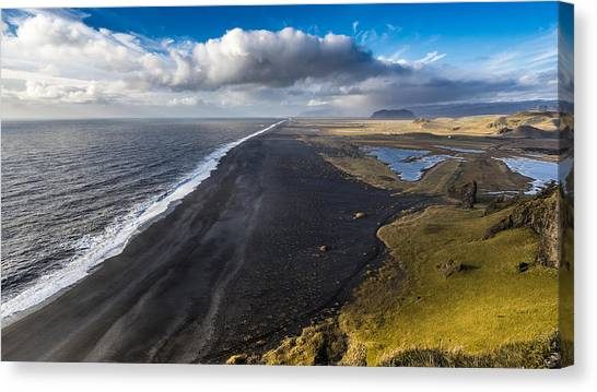 Canvas Print featuring the photograph Black Beach by James Billings