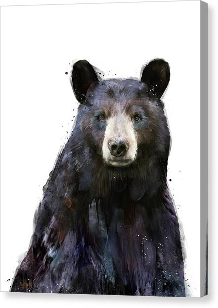 Black Forest Canvas Print - Black Bear by Amy Hamilton