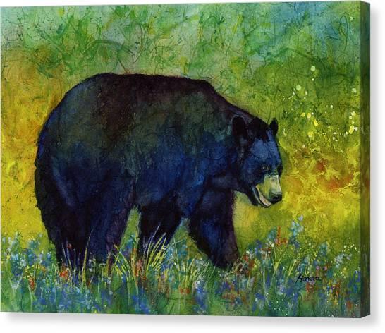 Black Bears Canvas Print - Black Bear by Hailey E Herrera