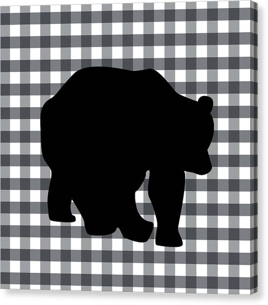 Country Canvas Print - Black Bear by Linda Woods
