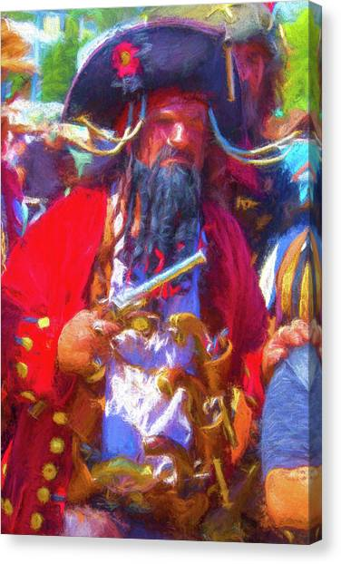 Causes Canvas Print - Black Beard Pirate by Garry Gay