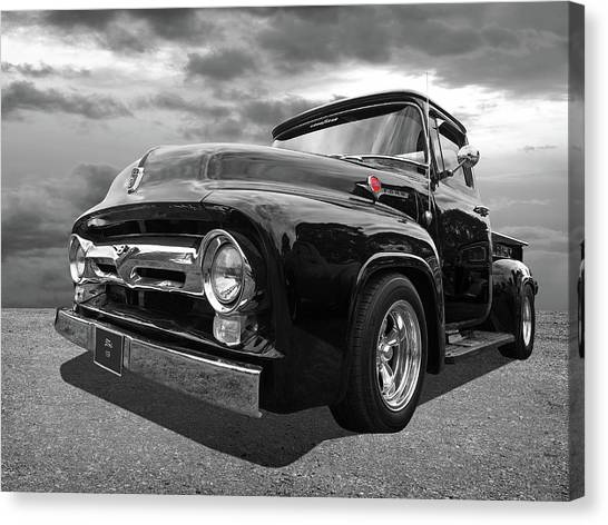 Black Beauty - 1956 Ford F100 Canvas Print