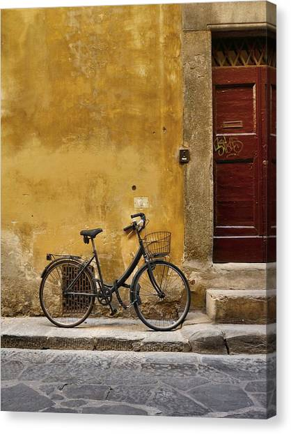Black Bike Canvas Print