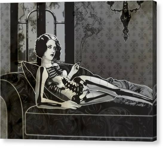 Black Blanche Canvas Print