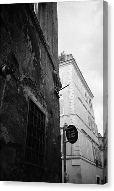 Black Building, White Building Canvas Print