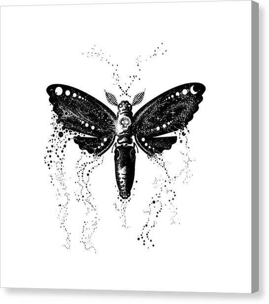 Silence Of The Lambs Canvas Print - Black Butterfly by Poetri Kempit