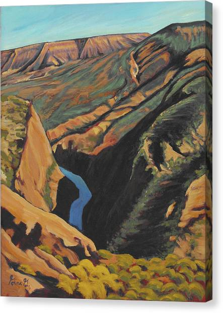 Black Canyon Overlook Canvas Print