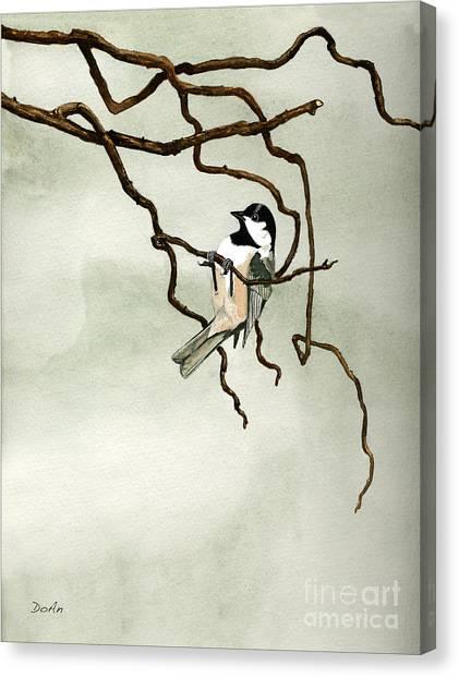 Chickadees Canvas Print - Black Capped Chickadee by Antony Galbraith