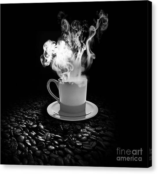 Coffee Canvas Print - Black Coffee by Stefano Senise