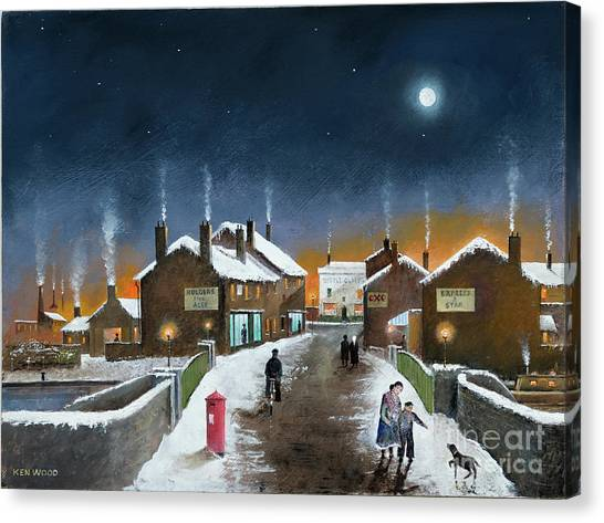 Black Country Winter Canvas Print