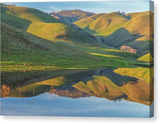 Contra Canvas Print - Black Diamond Morning Reflection by Marc Crumpler